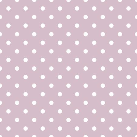 textured: Tile vector pattern with white polka dots on pastel violet background Illustration