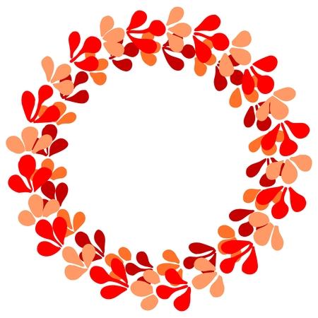 Pastel laurel wreath vector frame on white background