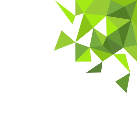 yellow: Green triangle on white vector background Illustration