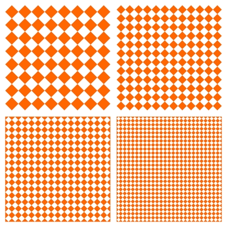 Tile orange and white vector pattern set