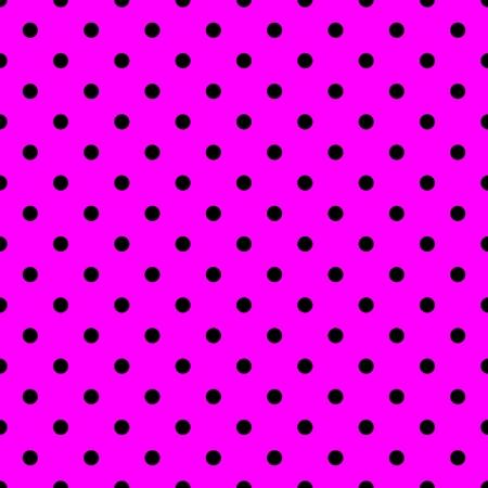 tile: Tile pattern with black polka dots on pink background