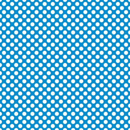 Tile vector pattern with white polka dots on blue background.