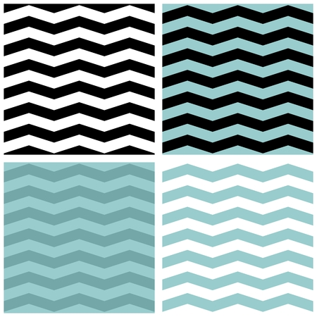 Zig zag tile pattern set. Illustration