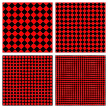 the sixties: Red and black vector pattern set