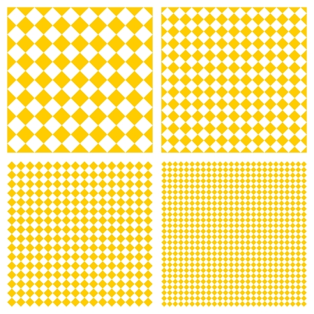 Tile yellow and white vector pattern set or website background Illustration
