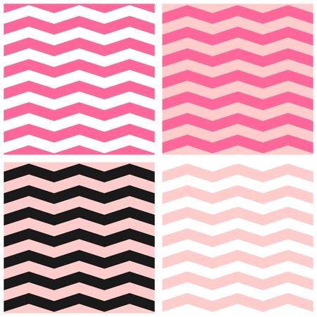 tiling: Colorful zig zag pattern. Illustration