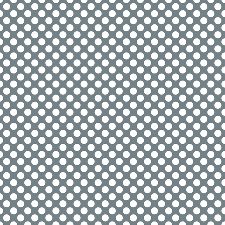 Tile vector seamless pattern with white polka dots on green background.
