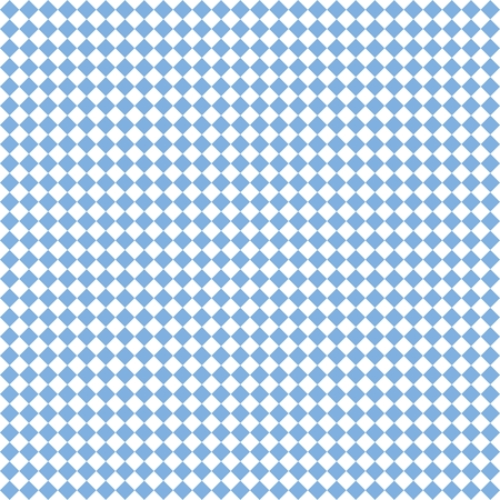 Checkered tile vector pattern or blue and white wallpaper background Illustration