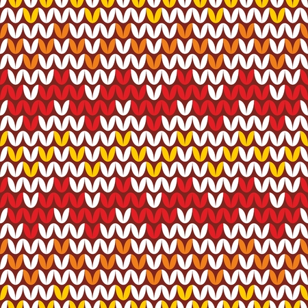 Tile zig zag knitting vector pattern or winter background