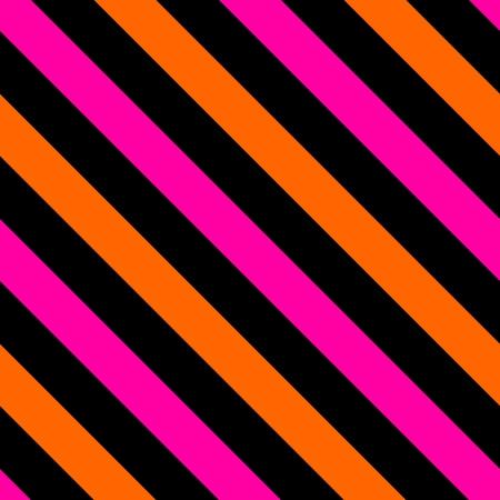 Tile black, pink and orange stripes vector pattern or seamless background