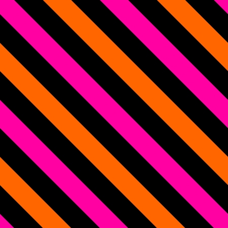 Tile black, pink and orange stripes vector pattern or seamless background