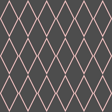 Checkered tile vector pattern or pink and grey background Illustration