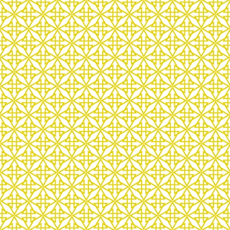Tile yellow and white vector pattern or seamless decoration wallpaper Illustration