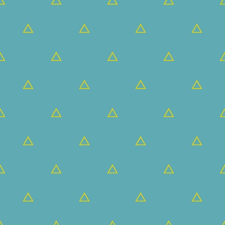 Tile vector pattern with yellow triangles on pastel mint green background Illustration