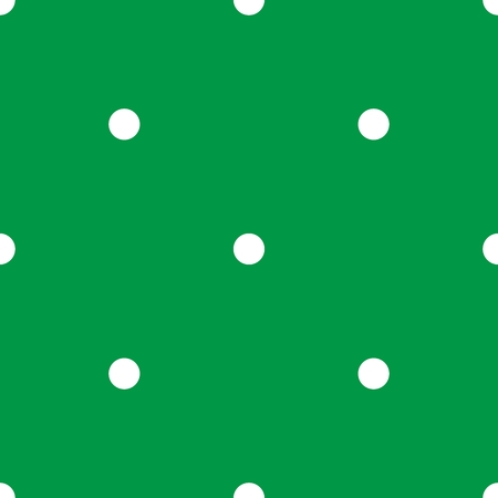 Tile vector pattern with white polka dots on mint green background