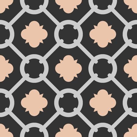 Tile Black Pink And Grey Decorative Floor Tiles Vector Pattern