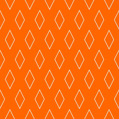 Tile orange and white vector pattern for seamless decoration wallpaper