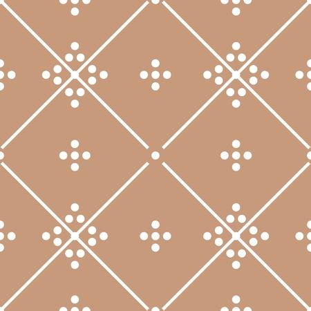 Tile brown decorative floor tiles vector pattern