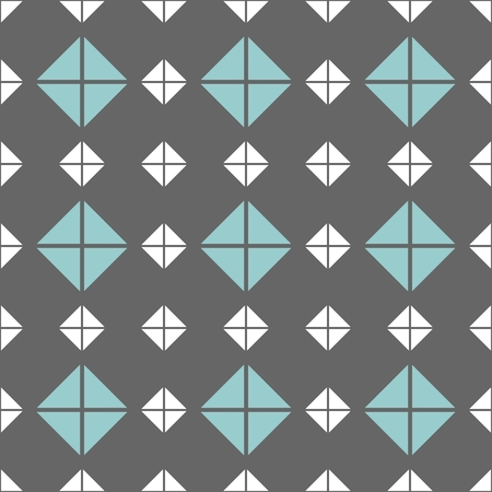 Tile vector pattern with grey, blue and white background wallpaper Illusztráció