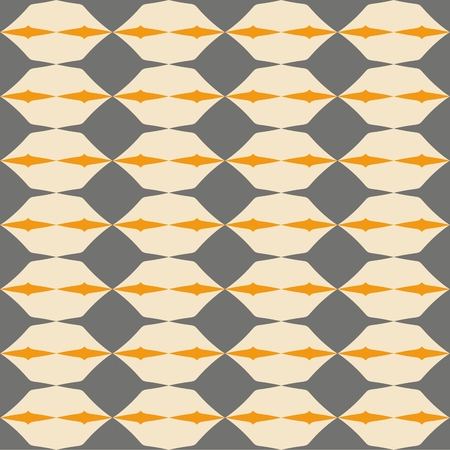 Tile grey, black and orange vector pattern with geometric decoration background wallpaper
