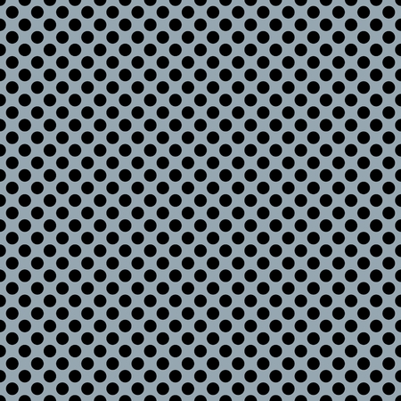 Tile vector pattern with black polka dots on blue background Illustration