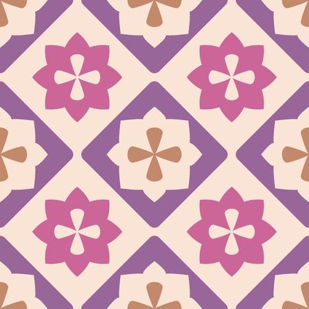 Tile decorative floor tiles vector pattern or seamless background