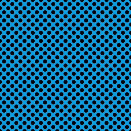 Tile vector pattern with black polka dots on blue background