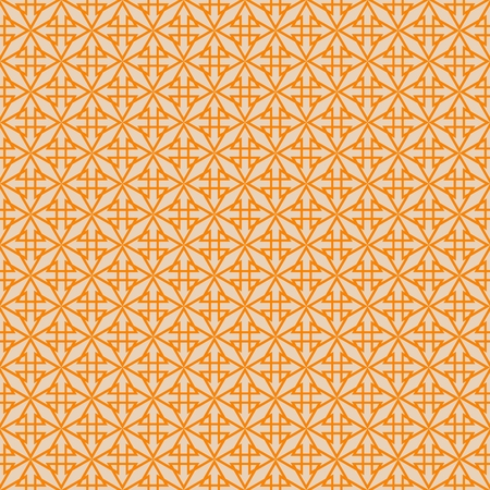 Tile vector pattern with white print on orange background