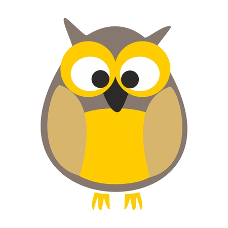Owl vector illustration isolated on white background