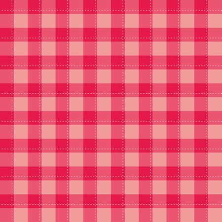 Seamless sweet pink background - checkered vector pattern or grid texture for web design, desktop wallpaper or culinary blog website Illustration