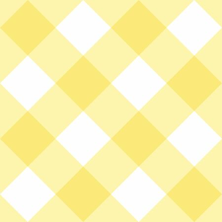 Seamless yellow plaid vector background - checkered tile pattern or grid texture for web design, desktop wallpaper or culinary blog website