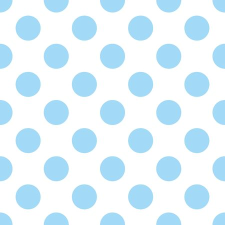 Seamless vector pattern with cute tile blue polka dots on white background 일러스트
