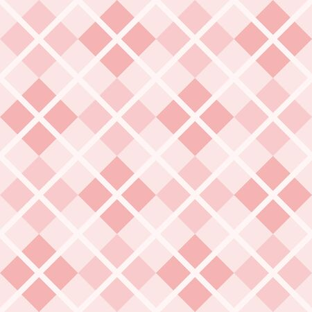 Seamless pink and white background - checkered vector pattern or grid texture for web design, desktop wallpaper or culinary blog website