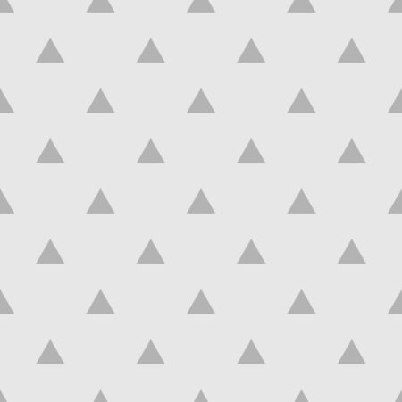 Tile vector pattern with triangles on grey background for seamless decoration wallpaper