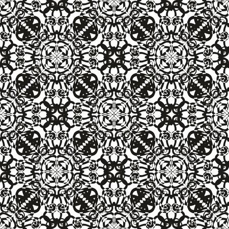 Tile black and white vector pattern or graphic line background