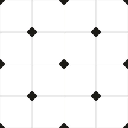 Tile black and white vector background or seamless pattern