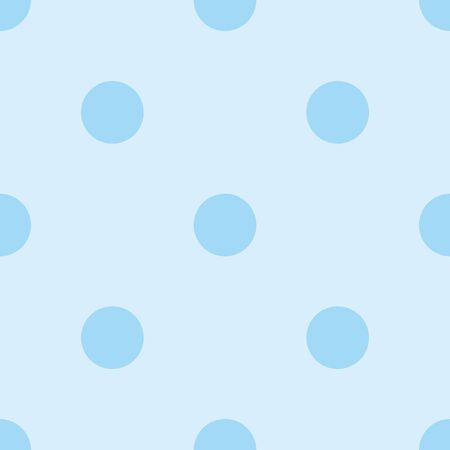 Tile vector pattern with blue polka dots on blue background for seamless decoration wallpaper