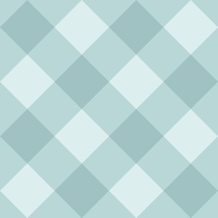 Seamless sweet mint blue background, checkered vector pattern or grid texture for web design, desktop wallpaper or culinary blog website