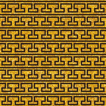 Tile decorative floor gold and dark grey tiles greek pattern or seamless background Stock fotó - 150211131