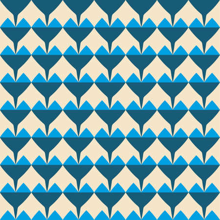Tile vector pattern with blue hearts on pastel background for decoration wallpaper Illusztráció