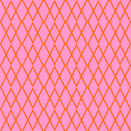 Tile orange and pink vector pattern for seamless decoration wallpaper