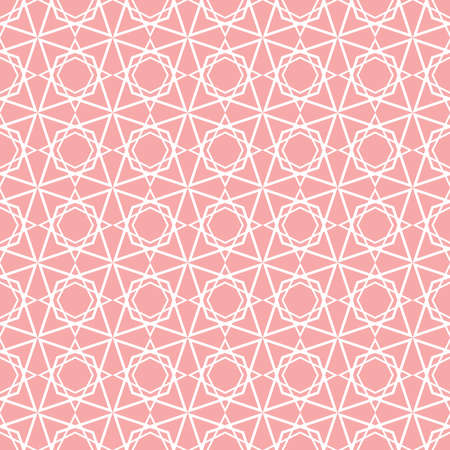 Pink tile vector pattern for seamless decoration wallpaper