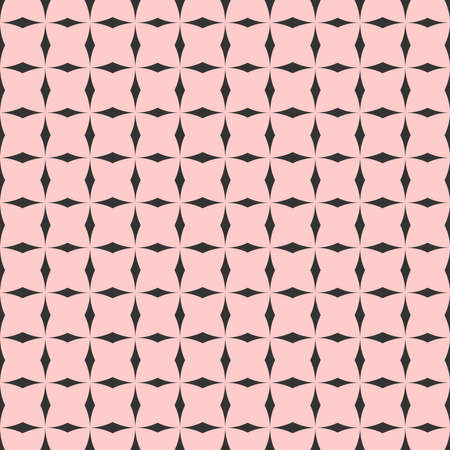 Checkered tile vector pattern or pink and black wallpaper background