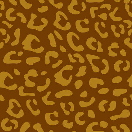 Seamless leopard vector pattern design, animal yellow and brown tile print background