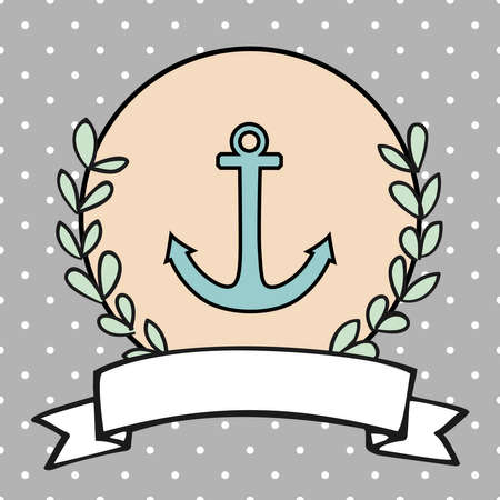 Nautical vector card or sailor invitation Ilustracja