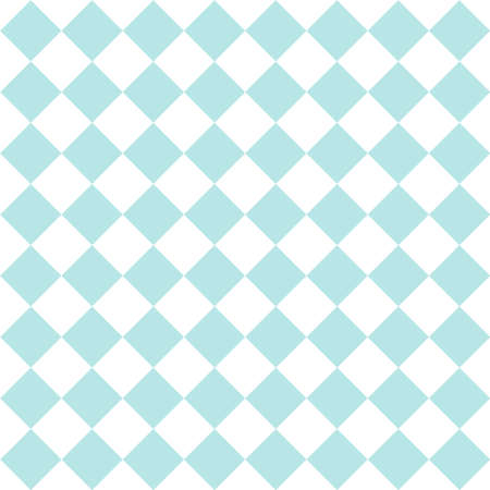Checkered tile vector pattern or seamless mint green or blue and white background