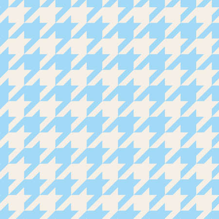 Houndstooth seamless vector pattern. Traditional Scottish plaid fabric collection for tile website background or desktop wallpaper in blue and grey color
