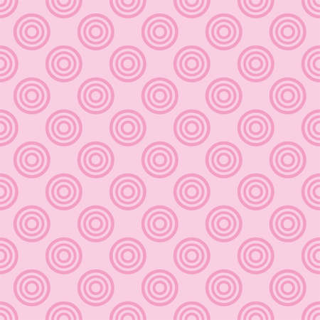 Seamless vector pattern with pink dots on a sweet pastel baby pink background