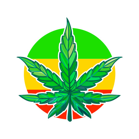Vector Sheet of cannabis.