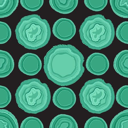 Vector Agate Green Stone seamless pattern on dark Illustration